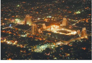 Tiruvannamalai-city-view-on-Deepam-day